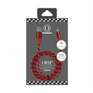 ORIP Type-C 編織傳輸充電線-紅 OCC-A02112