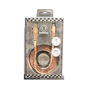 ORIP Type-C 編織傳輸充電線-金
