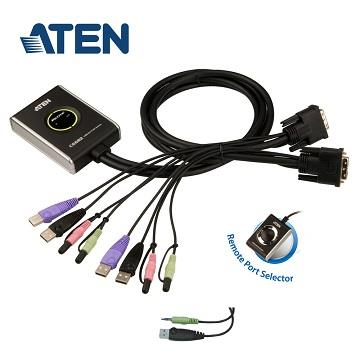 ATEN 2埠USB DVI KVM多電腦切換器