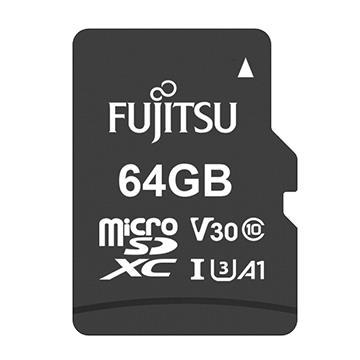 Fujitsu MicroSD U3 A1 64G記憶卡-含轉卡
