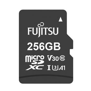 Fujitsu MicroSD U3 A1 256G記憶卡-含轉卡