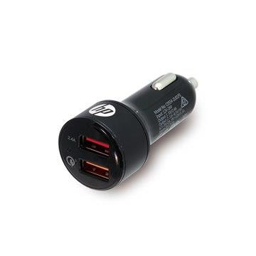 HP USB+QC3.0疾速車用充電器-黑