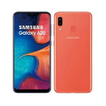 【原廠皮套組】SAMSUNG Galaxy A20 橘