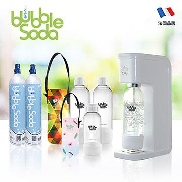 法國BubbleSoda 全自動氣泡水機 BS-909KTB2 經典白大氣瓶