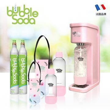 法國BubbleSoda 全自動氣泡水機超值組 BS-304KTS2 花漾粉