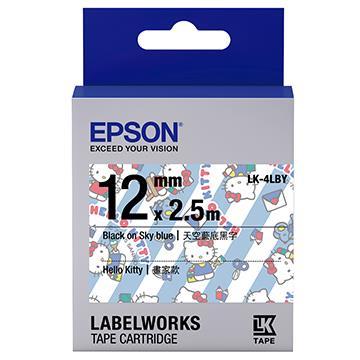 愛普生EPSON Kitty系列 藍底黑字標籤帶 LK-4LBY