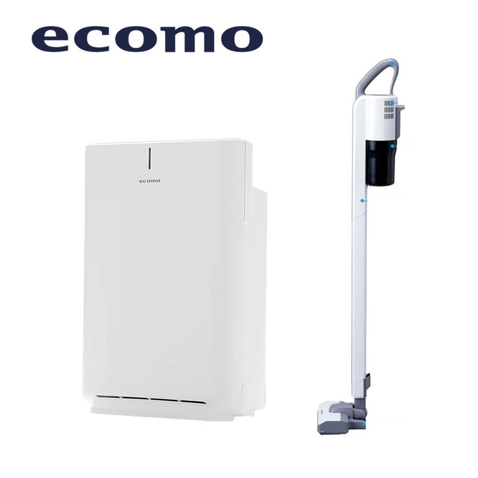 ecomo 10坪空氣清淨機+無線直立式吸塵器 AIM-AC30