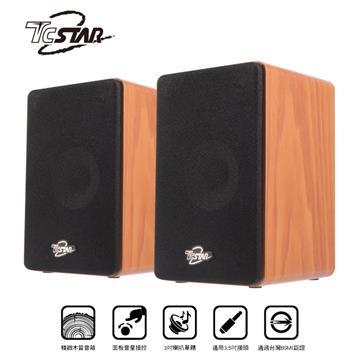 T.C.STAR TCS2510 2.0 AC木質多媒體喇叭