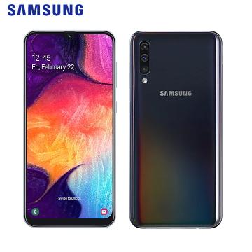 【皮套配件組】SAMSUNG Galaxy A50 幻彩黑