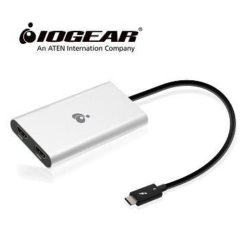 IOGEAR GTC3DHD TB3轉4K HDMI雙螢幕轉接器