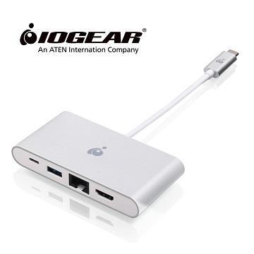 IOGEAR GUH3C3PD USB-C四合一4K轉接器