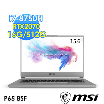 msi微星 P65 15.6吋筆電(i7-8750H/RTX2070/16G/512G)