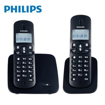 飛利浦PHILIPS 2.4GHz數位DECT無線電話 雙機