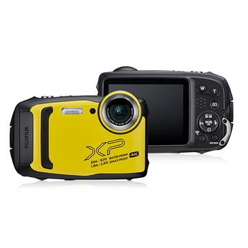 富士FUJIFILM 防水數位相機 黃 XP-140/黃色+皮套