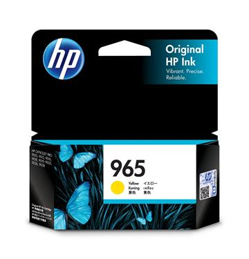 (福利品)惠普HP 965 黃色原廠墨水匣