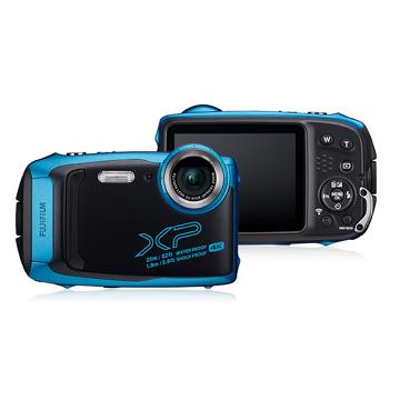 富士FUJIFILM 防水數位相機 淺藍