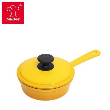 摩堤 16cm 鑄鐵單柄煎鍋 黃漸層