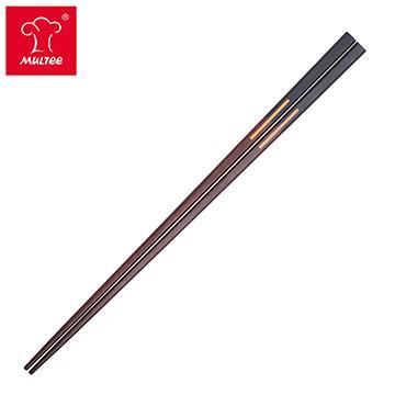 摩堤 34cm 雙色檀木料理筷 黑紫