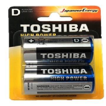 東芝鹼性1號電池-2入卡 LR20AG