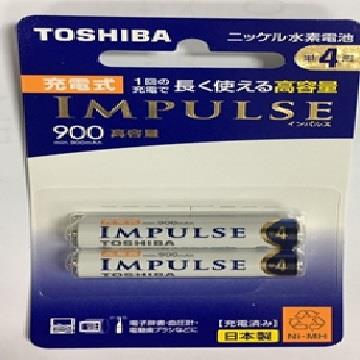 東芝4號低自放鎳氫充電電池組2P
