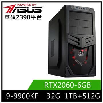 華碩平台[紅蓮烈士]i9八核獨顯SSD電腦