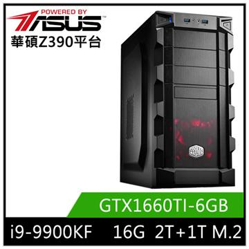 華碩平台[白蓮戰士]i9八核獨顯SSD電腦 白蓮戰士