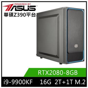 華碩平台[白蓮鬥士]i9八核獨顯SSD電腦
