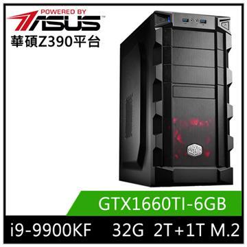 華碩平台[白蓮俠士]i9八核獨顯SSD電腦