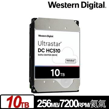WD 3.5吋 10TB Ultrastar DC HC510企業硬碟 HUH721010ALE604