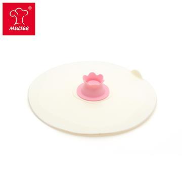 摩堤 17cm 花朵矽晶盤蓋 蜜桃粉 301006-1010-42611