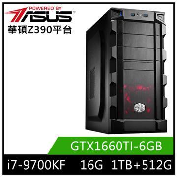 華碩平台[南星戰士]i7八核獨顯SSD電腦