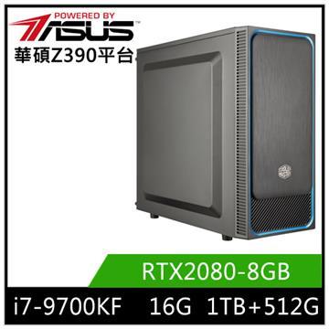 華碩平台[南星鬥士]i7八核獨顯SSD電腦