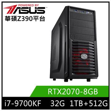 華碩平台[南星教士]i7八核獨顯SSD電腦