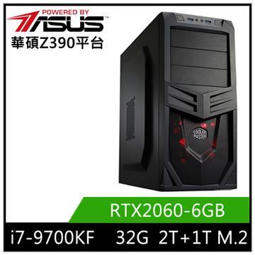 華碩平台[東星烈士]i7八核獨顯SSD電腦