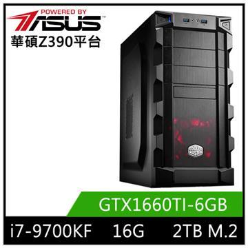 華碩平台[北星戰士]i7八核獨顯SSD電腦