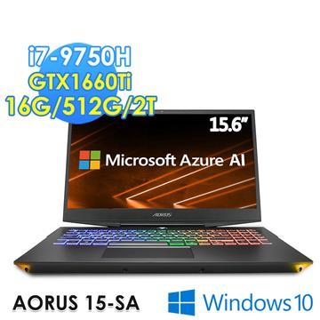GIGABYTE 技嘉 AORUS 15.6吋筆電(i7-9750H/GTX1660TI/16G/512G+2T) 2K716GE5H2