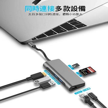 QPNP Type-C 7合1極速USB HUB TC710