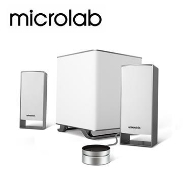 Microlab M-600 2.1聲道多媒體音箱-白