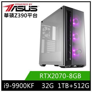 華碩平台[邢風教士]i9八核獨顯SSD電腦