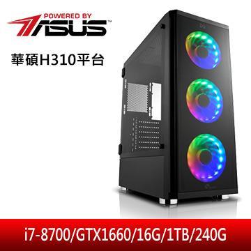 華碩平台[熾焰雷神]i7六核獨顯電腦