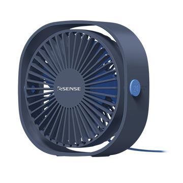 Esense 靜享自然風桌面USB風扇-藍