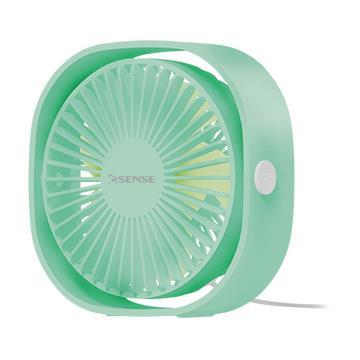Esense 靜享自然風桌面USB風扇-綠