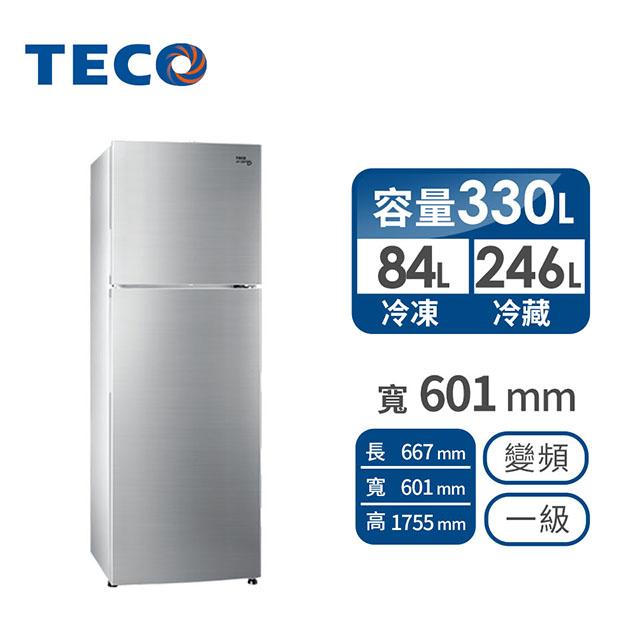 東元 330公升雙門變頻冰箱 R3501XHS