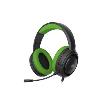 CORSAIR HS35 STEREO電競耳機-草綠 CA-HS35HEADSET-AG