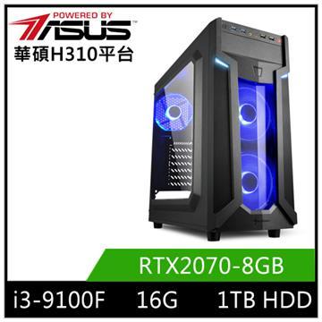華碩平台[瀧月魔神]i3四核獨顯電腦
