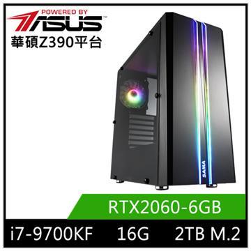 華碩平台[血月天神]i7八核獨顯SSD電腦