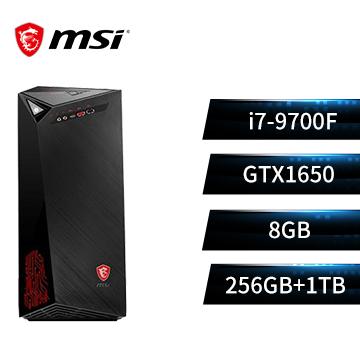 (福利品)MSI微星 Infinite 桌機(i7-9700F/GTX1650/8GD4/1T+256G/光碟機)