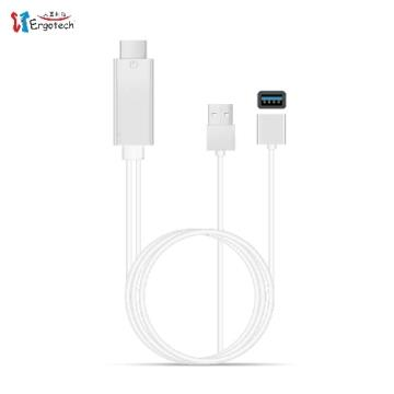 人因MD0120S HDMI手機影音傳輸線2M-銀 MD0120S