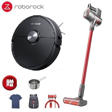 (超值組合)掃地機器人二代(黑) S6+旗艦無線吸塵器 H6