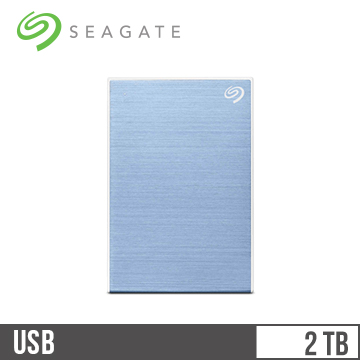 Seagate希捷 Backup Plus Slim 2.5吋 2TB行動硬碟 冰川藍 STHN2000402